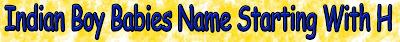 Boy babies name list