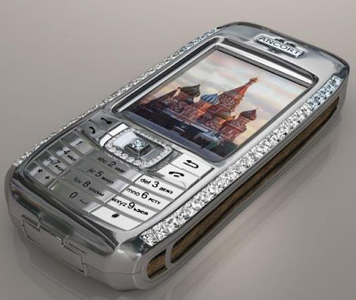 Silver color beautiful mobile phone stills