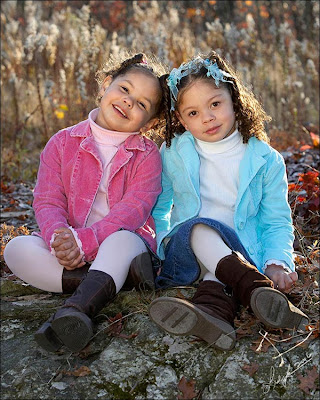 Two kids Friends Similing Photo