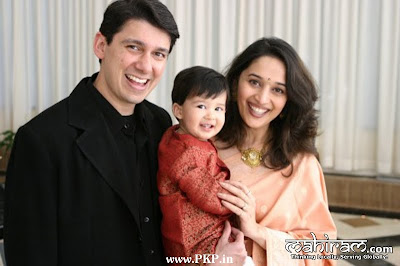 Madhuri Thikshit Family photos