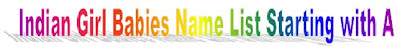 Indian Girl babies god name list with meanings, Female babies god name list