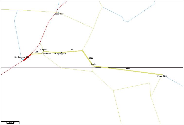 de St. George, UT 053 à Page, AZ 005 / Distance: 240,70 km