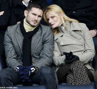 Chelsea star Frank Lampard with his mother, Pat