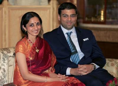 Viswanathan Anand and his wife Aruna