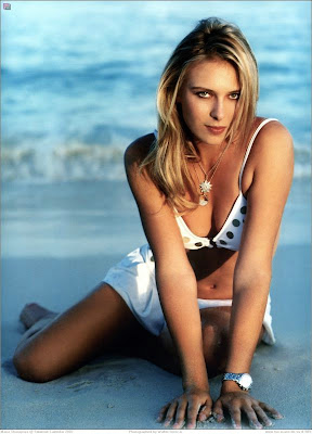 Maria Sharapova Beach Photos