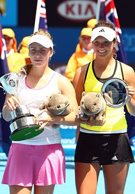 Ksenia Pervak and Laura Robson