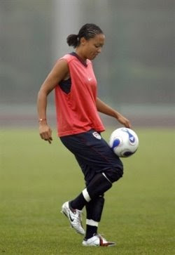 US Women Soccer Forward Angela Hucles