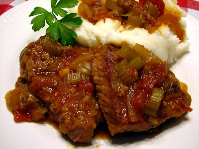 SWISS STEAK (slightly adapted from Alton Brown )