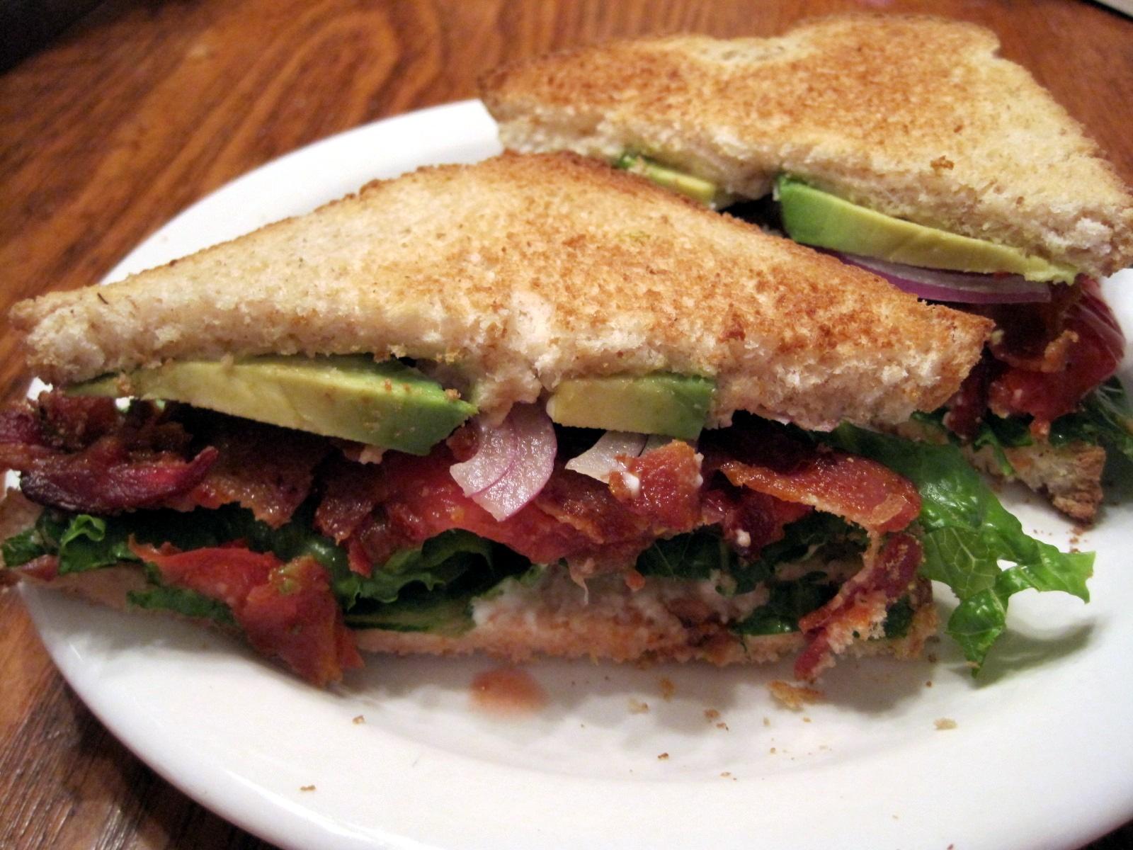 BLT With Avocado Recipe — Dishmaps