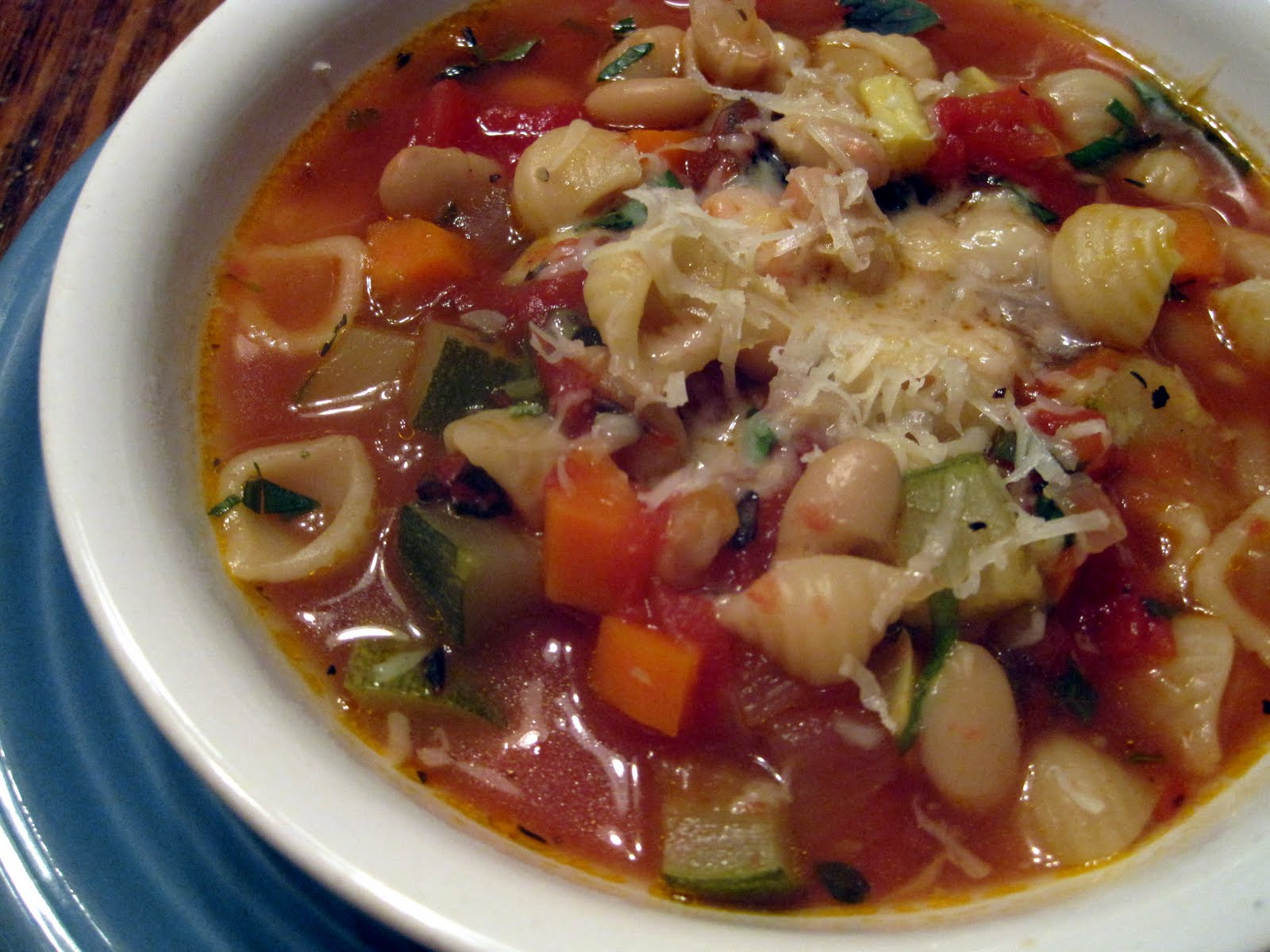 recipe: simple minestrone soup [38]