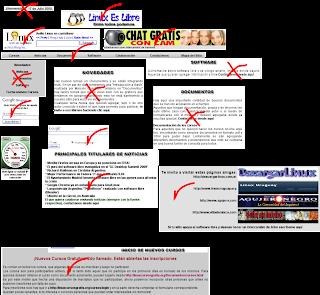 Organizando cada sector de información en Inkscape del sitio web Linux es Libre