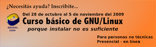 Banner para el curso básico de GNU/Linux, Porque instalar no es suficiente, dirigido a personas no técnicas.