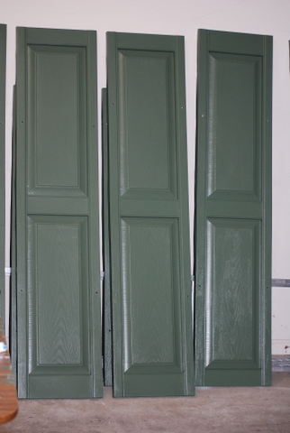 do it yourself and save painting vinyl shutters a different color