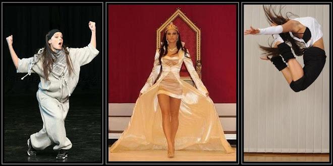 She is a talented dancer and fashion designer ... Egy tehetséges ruhatervező és táncos