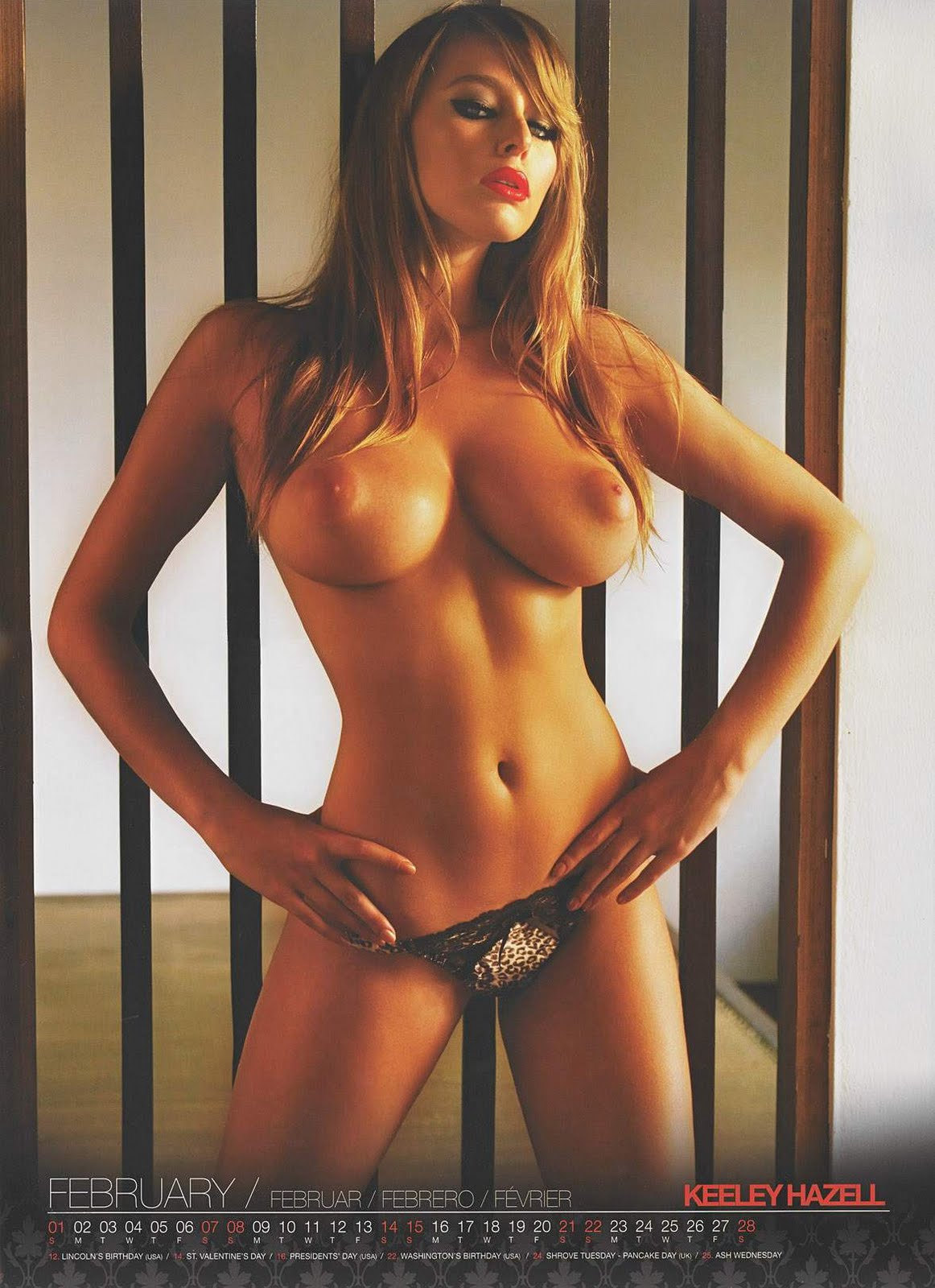 keeley hazell bottomless naked