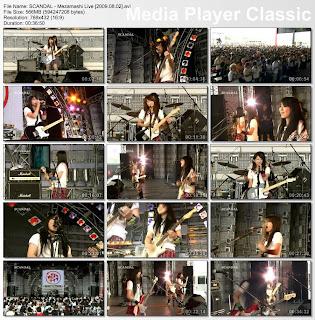 Discografia de SCANDAL Scandal-mezamashi-live-2009-08-02