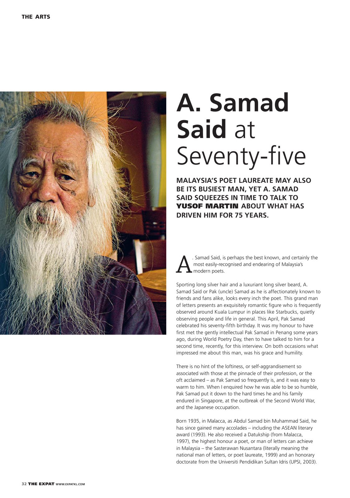 A Samad Said At Seventy Five