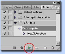 tutorial photoshop membuat action