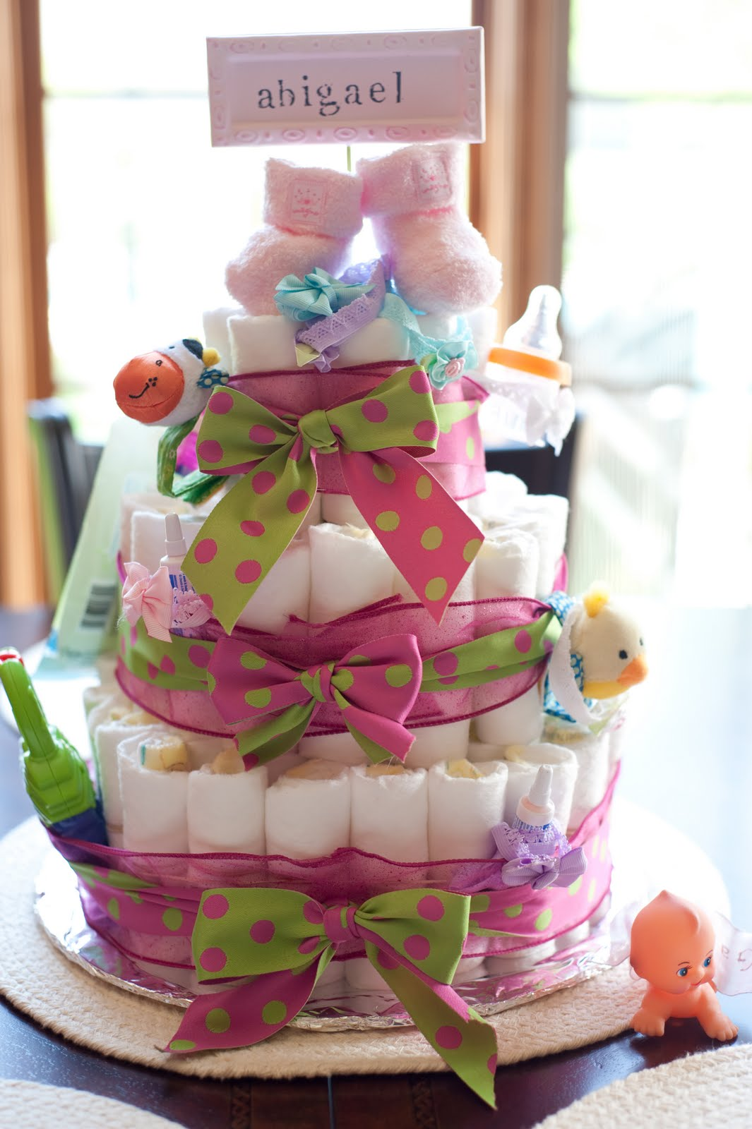 Baby Shower Ideas, Diaper Cake & Fun