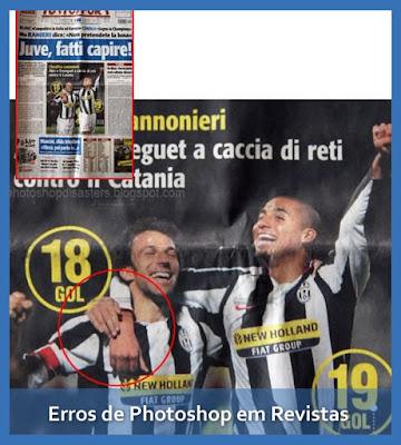 Erros de Photoshop em Revistas