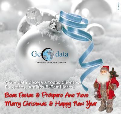 Cartão de Natal - Geodata