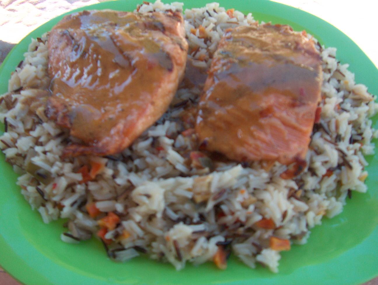 Cooking in the Desert: Grilled Slammin Salmon