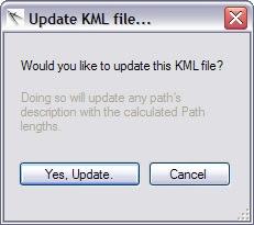 Update KML Dialog