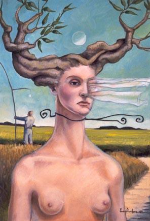 Mujer Árbol II. Tempus Fugit