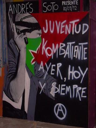 Mural pintado en junio del 2008, en el forntis del depto de CC.SS. de la UNAP, en Iquique