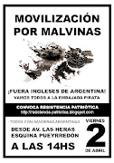 Jornada y movilizacion patriotica el 2 de abril desde las 14hs. afiche de abril