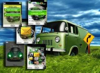 Green Car Animated Sony Ericsson Theme