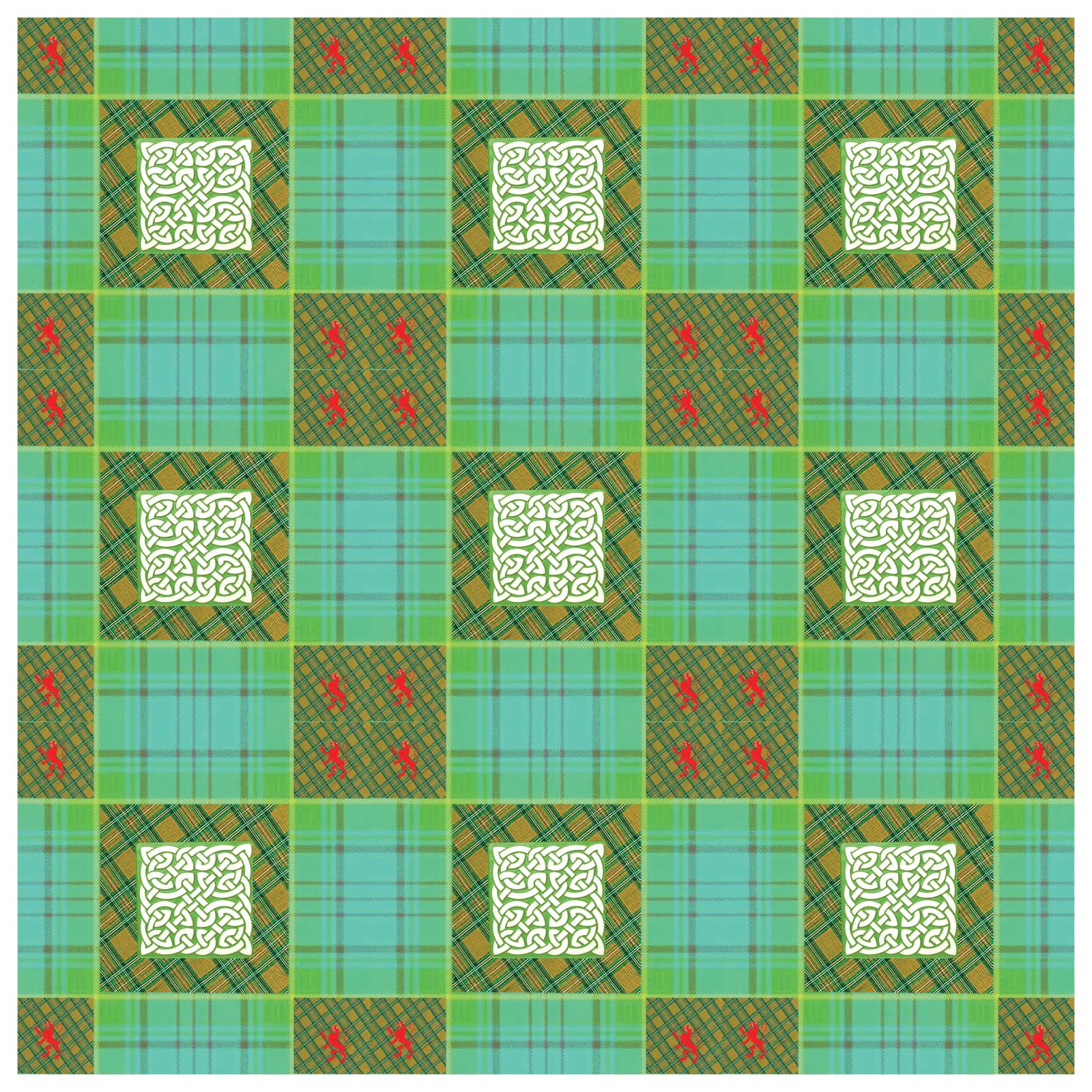 Irish Plaid Quilt Block Pattern