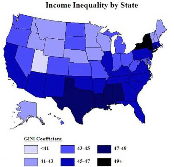 income equality in the united states think As piketty warns, the united states, like other rich nations, could be moving toward an oligarchy of inherited wealth and away from a meritocracy based on labor income the most direct way to reduce the dominance of inherited wealth is to raise the estate tax by triggering it at $1 million of wealth per person rather than its current $534.