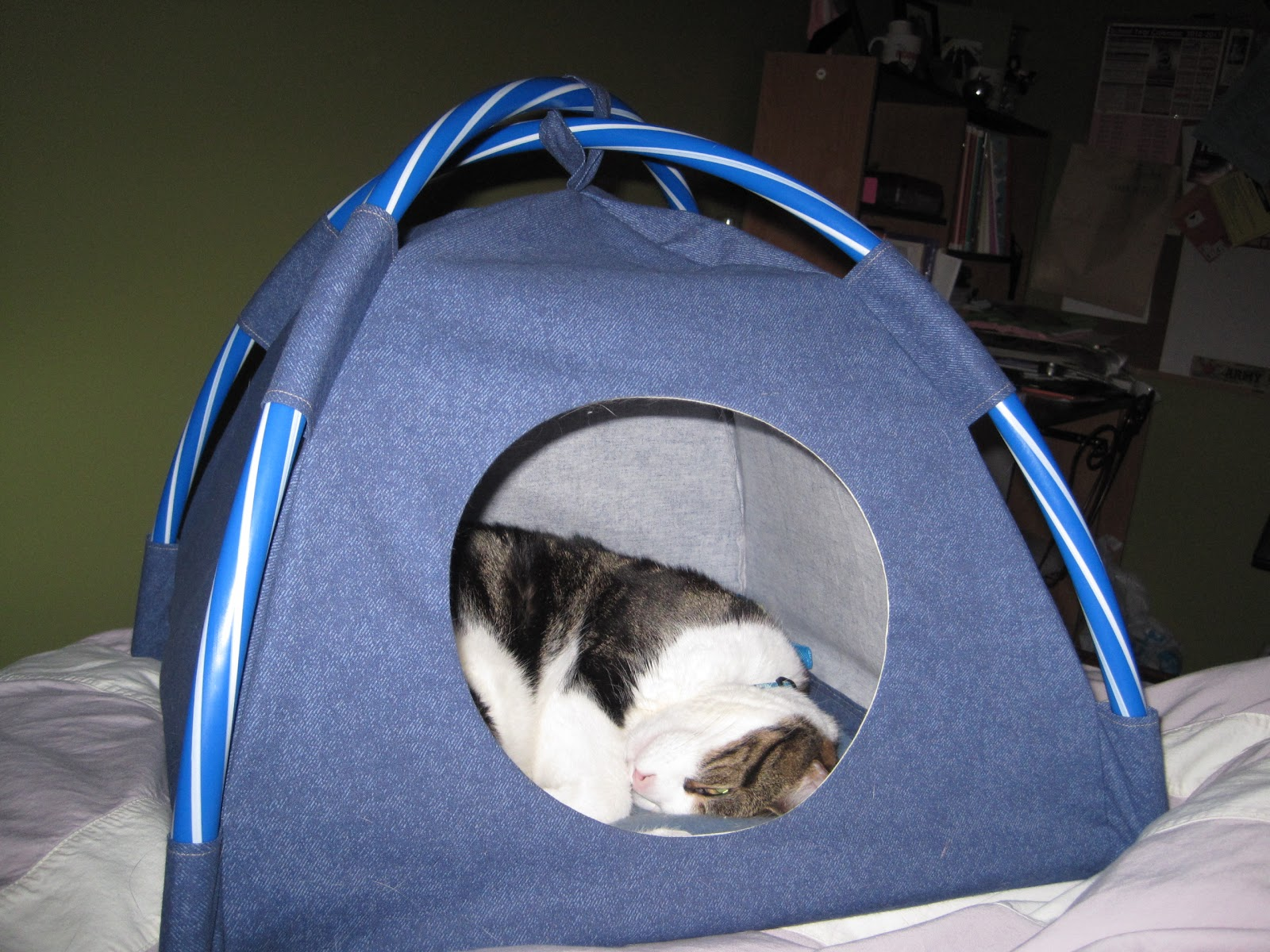 Crafters for critters dogwear kitty tents and dog toys for Cat tent