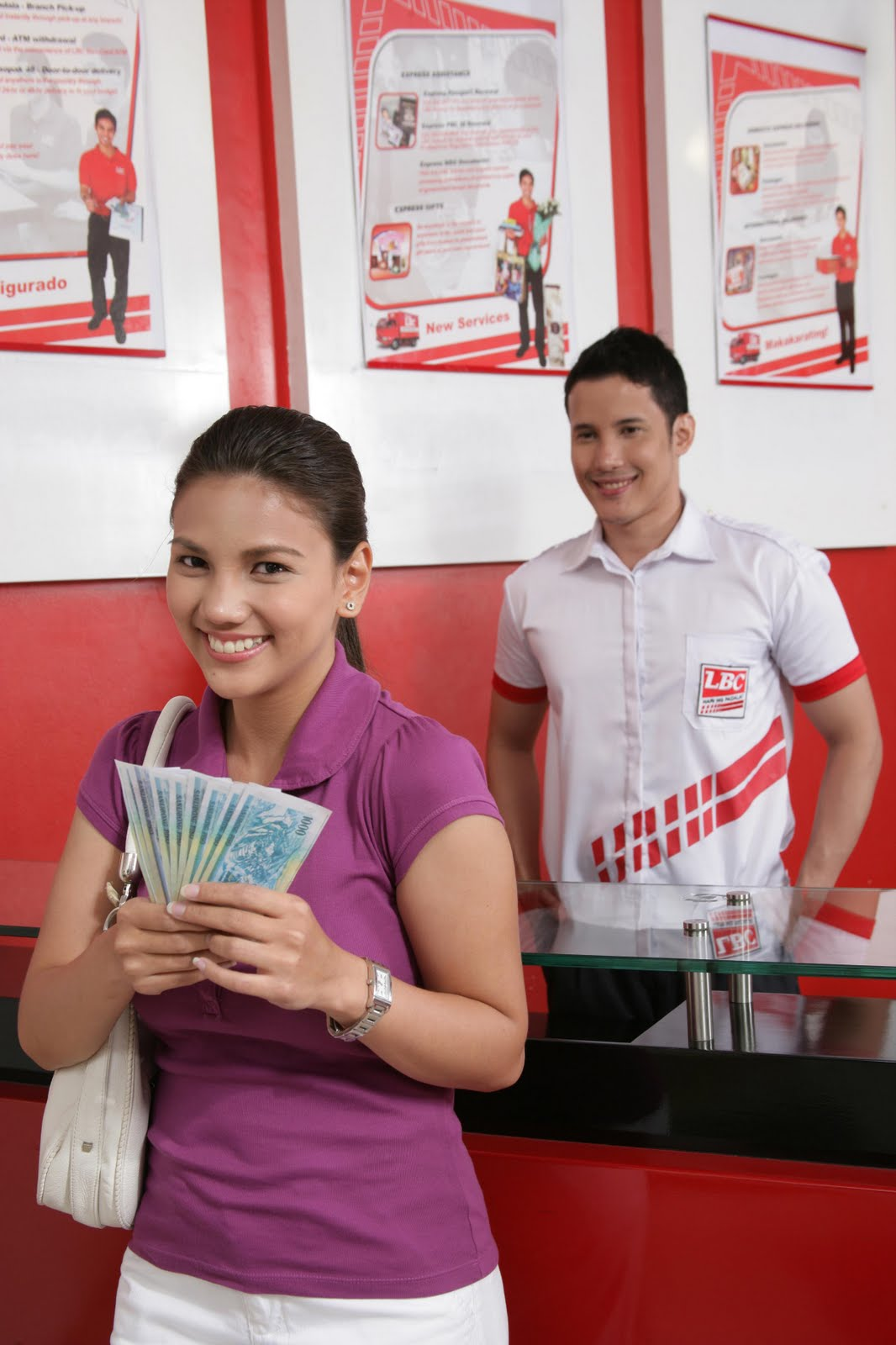 1 - Getting Money from LBC - Philippine Photo Gallery