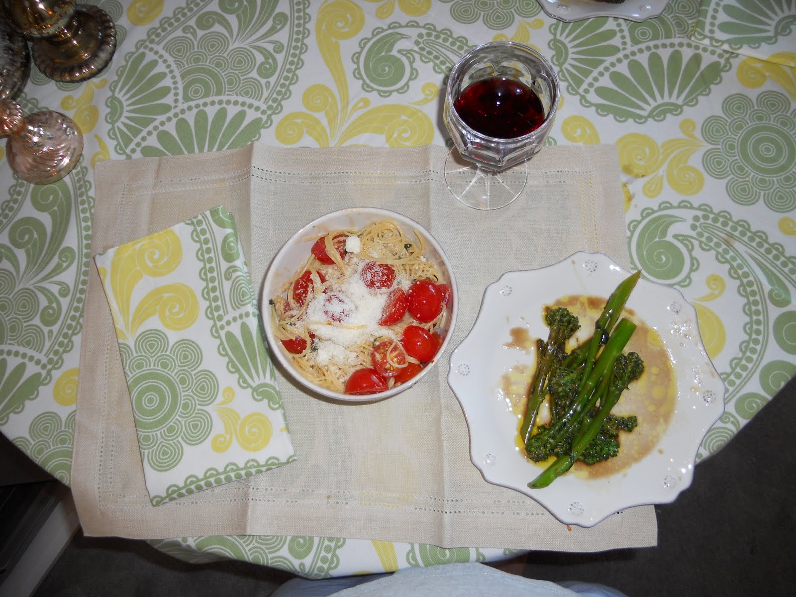 Barely contessa summer garden pasta and broccolini Ina garten summer pasta