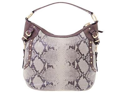 DKNY Python hobo bag Python brown hobo bag