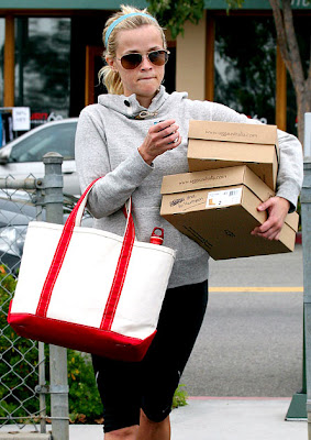 Reese Witherspoon was seen near my favorite gym Burn 60 picking up 2 pairs of UGG Australia Classic Tall Boots for her daughter Ava the other day.