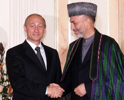 Karzai-Putyin találkozó Sanghajban