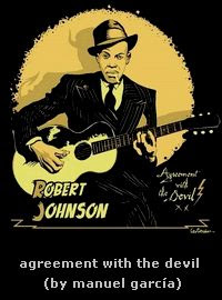 robert johnson - cartoon by manuel garcia