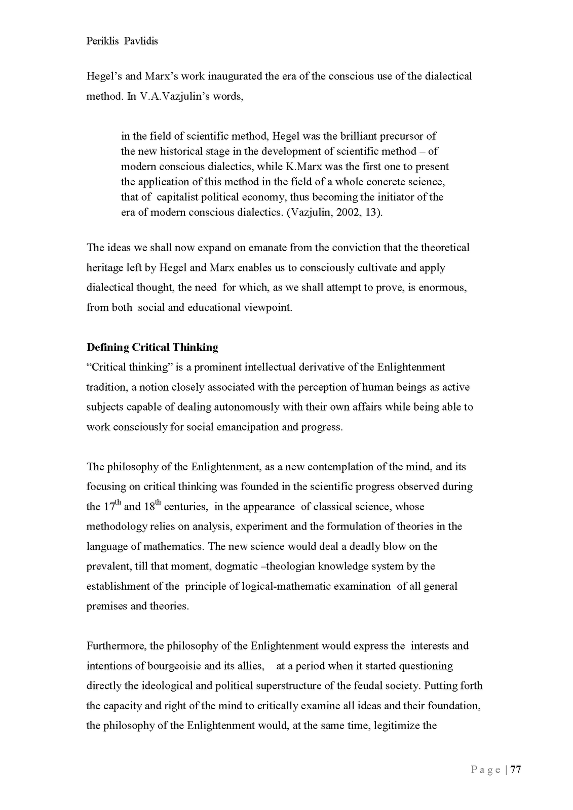 General scientific dialectic method and its development 22