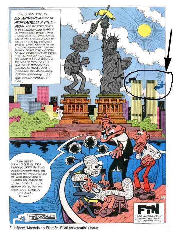 """Tira comica """"Mortadelo y Filemón"""" predijo el 9/1"""