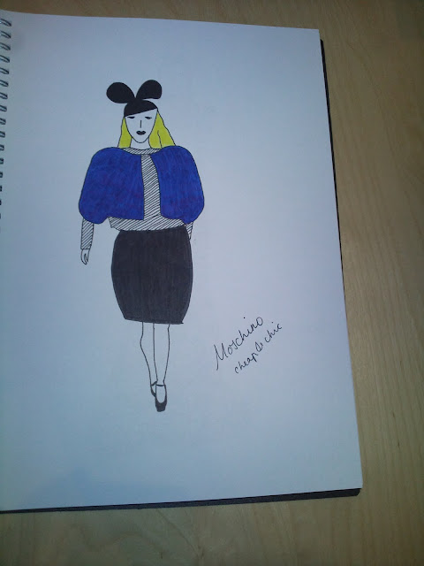 Sketch of Moschino Cheap & Chic by Michael Ford