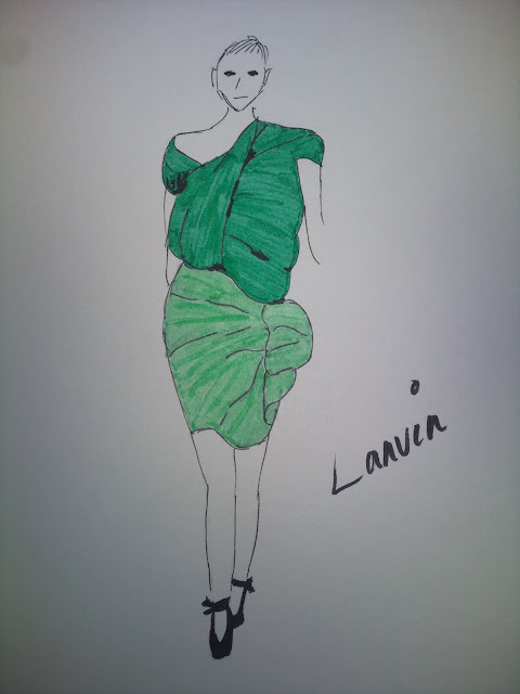 Sketch of Lanvin runway by Michael Ford