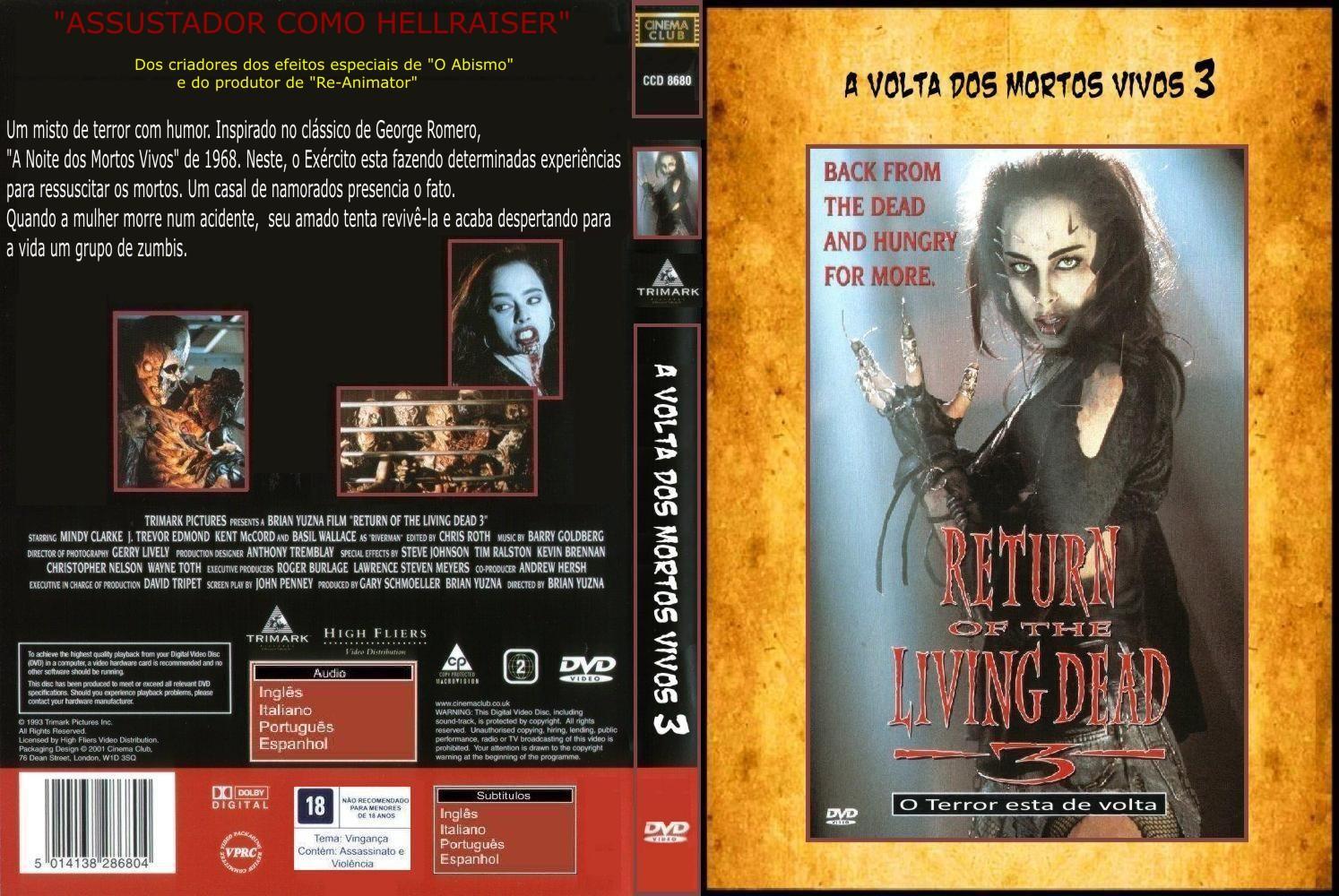 Filme Mortos Vivos throughout a volta dos mortos vivos parte 3 - capas covers - capas de filmes