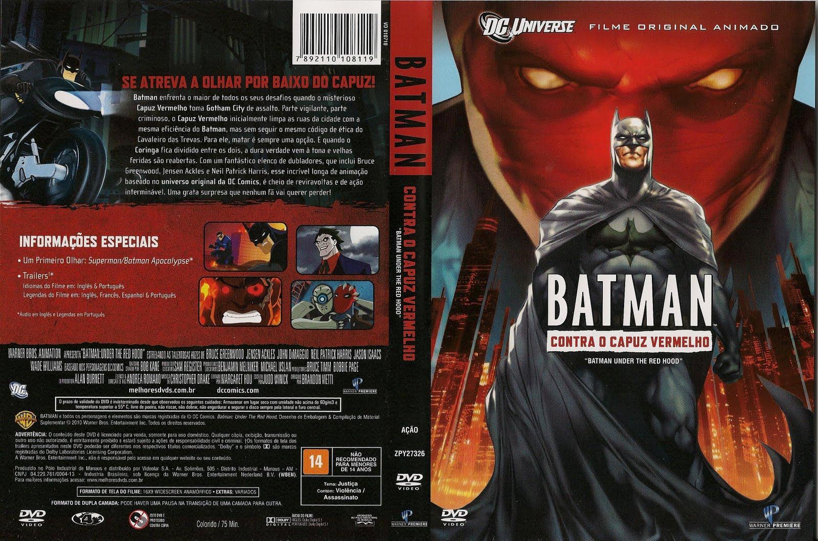 Torrent - Batman Contra o Capuz Vermelho Blu-ray rip 720p e 1080p Dual Áudio 5.1 (2010)