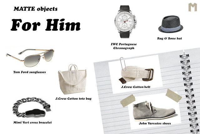 Tom Fod sunglasses, J.Crew tote bag, Mimi Vert cross bracelet, IWC Portuguese Chronograph, Rag & Bone hat, J.Crew Cotton belt, John Varvatos shoes