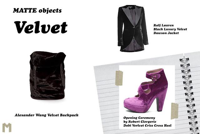 MATTE objects: Velvet