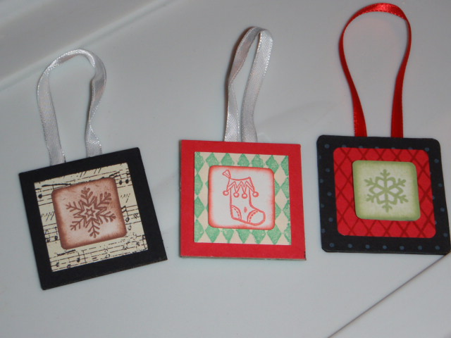 Stamped ornaments