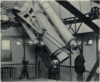 The Thomspon 30-inch Telescope in the dome of the New Physical Observatory, from E. Walter Maunder, 'The Royal Observatory, Greenwich: a Glance at its History and Work' (1900).
